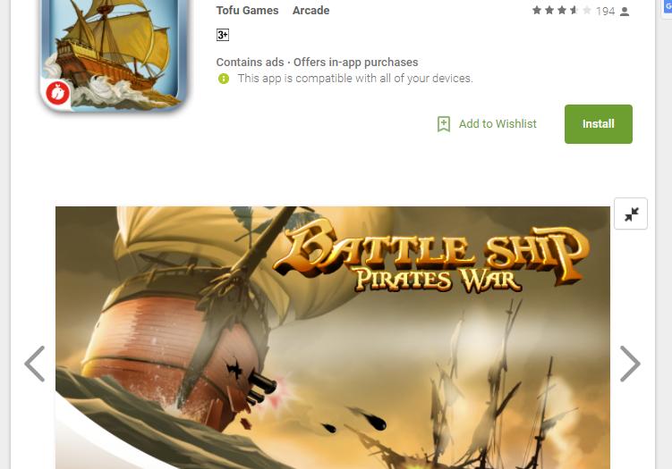 Ocean Pirate: Battle Ship