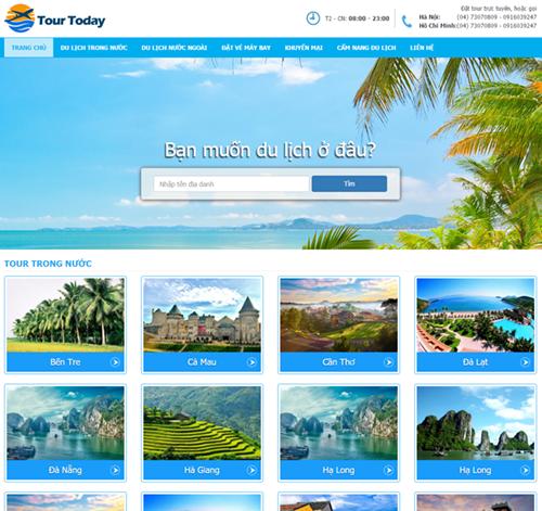Website tra cứu, đặt phòng khách sạn trực tuyến