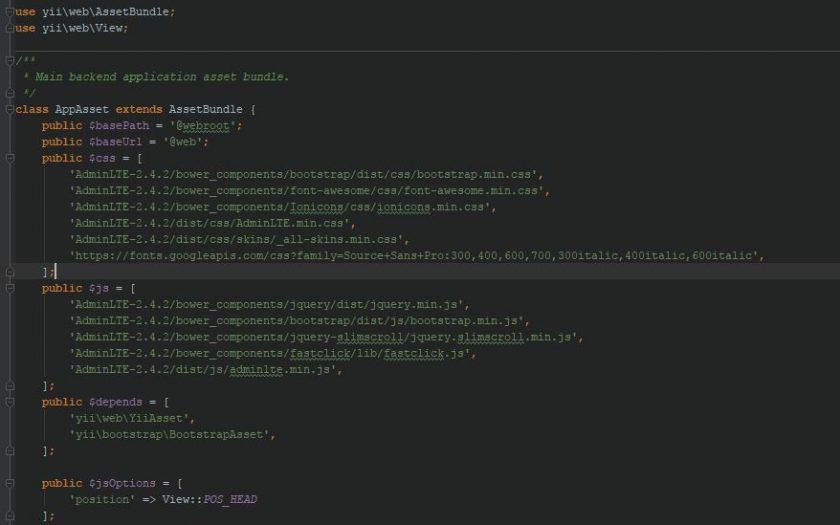 [Hướng dẫn]Thay đổi giao diện mặc định của Yii sang AdminLTE