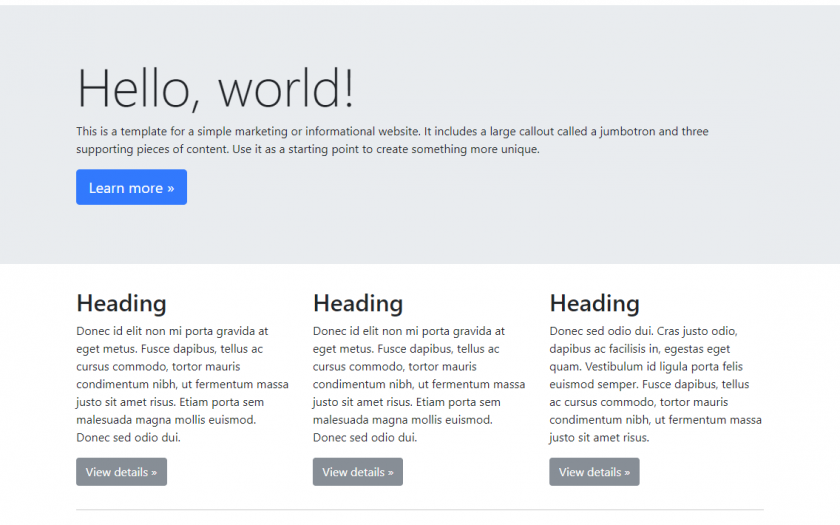 Share template sẵn Jumbotron của boostrap kết hợp với HTML5 Boilerplate